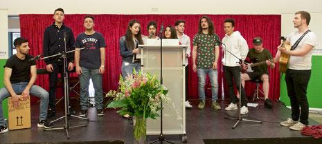 Souveräner Auftritt der Lerngruppe unter der Leitung der Studenten Jannik Schäfer, Christina Busch und Simon Hagen.
