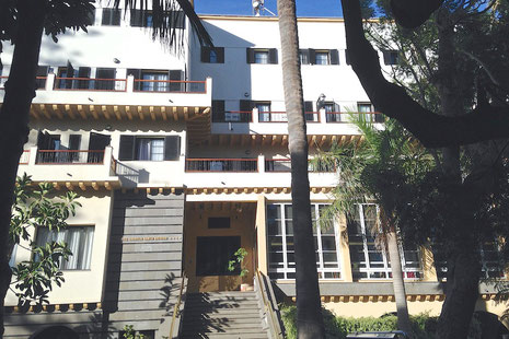 Das Hotel Escuela Santa Brigida. Es befindet sich im Ort Santa Brigida auf Gran Canaria und hat 50 Zimmer. In diesem Hotel werden 5 Hofas im März 2015 ihr Praktikum absolvieren.