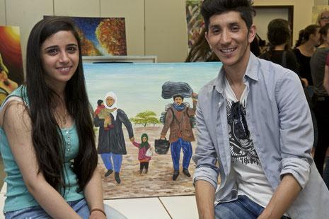 Berivan Hannan aus Syrien und Rohullah Rasa aus Afghanistan