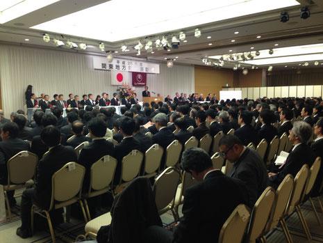 約300名の表彰式会場