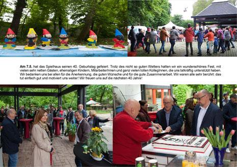 Feier des 40 jährigen Jubiläum mit Kuchen und Aktionen
