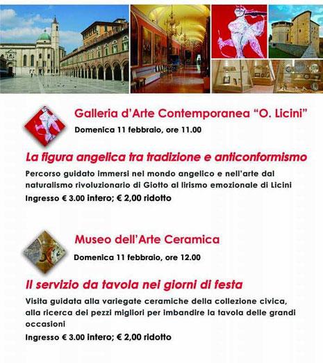 Visite guidate alla Galleria d'Arte Contemporanea e al Museo della Ceramica di Ascoli Piceno
