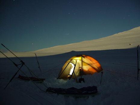 Keine Hütten - Übernachten im Zelt