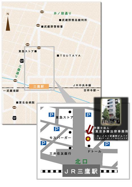 ここに地図が表示されます。