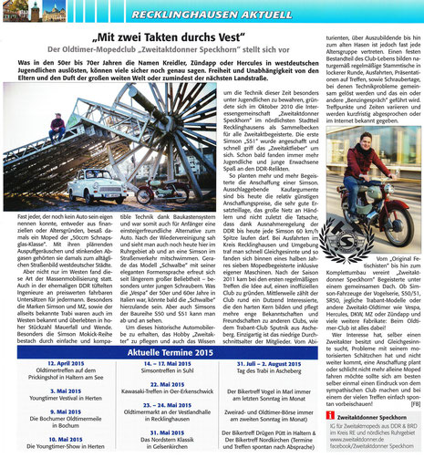"""100% Vest"" Ausgabe März/April 2015, Nr.8, 1 Ausgabe 2015"