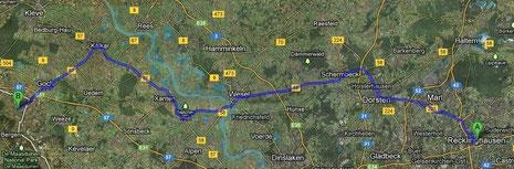 Vorläufige Routenplanung