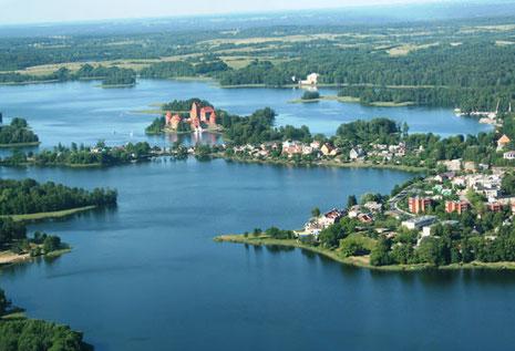Le magnifique bassin de Trakai !