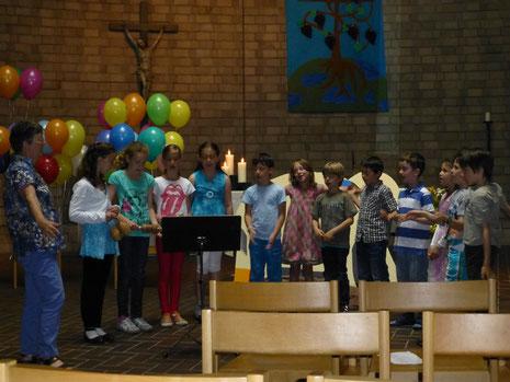 Die Kinder durften den Gottesdienst mitgestalten.