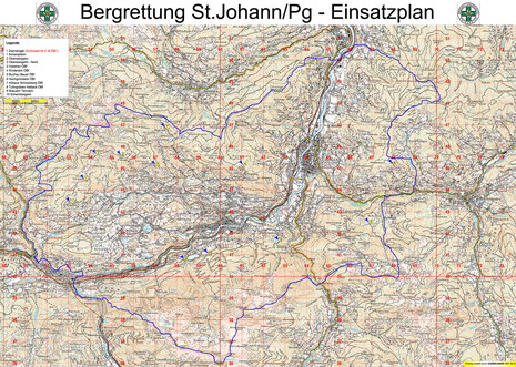 Einsatzgebiet St.Johann, Schwarzach, St.Veit, Goldegg und Goldegg-Weng