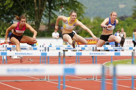 Swiss-Meeting 2013 Zofingen - Noemie Zbären Siegerin über 100m Hürden
