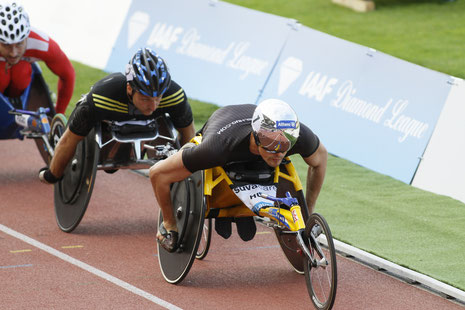Athletissima 2013 - Marcel Hug, Sieger über 1500m Rollstuhl