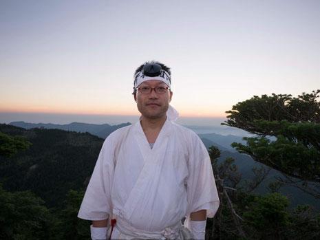 2020年8月、中田さんは、修験道の中先達になった。