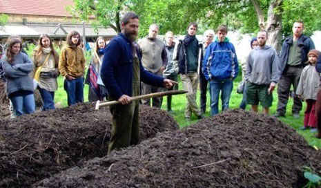 Kompostpräparierung, Foto: Familie Sommer