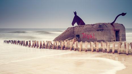 Blavand, Muldyr, Skulptur, sculpture, Denmark, Dänemark, Nordsee, North Sea, Dunes, Dünen, Holger Nimtz, Fotografie, photography, seascape,