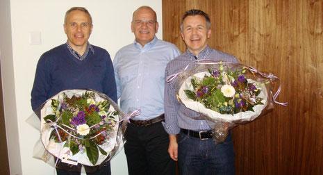 v.l.n.r: Toni Somm, Harry Stehrenberger, Thomas Hungerbühler