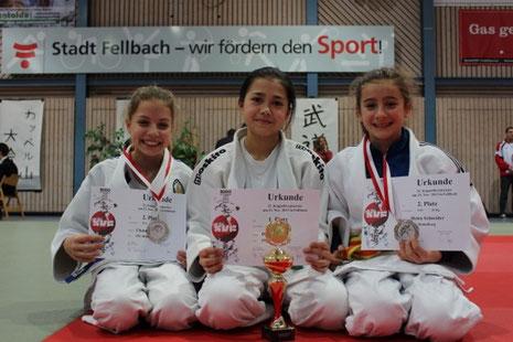 Chantal Kühnle, Dewi de Vries und Helen Schneider