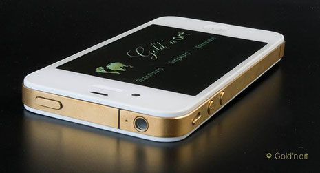 iPhone Gold-Edition, 24 Karat/Feingold vergoldet, Gold'n art Wiesbaden, Rhein-Main, Goldschmied