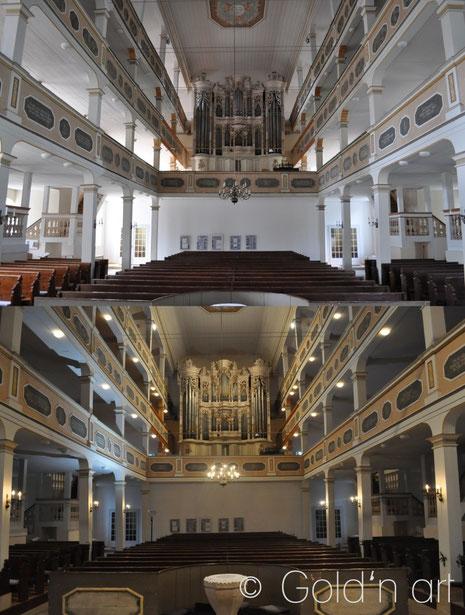 Kirchenmalerei, Restaurierung, Kircheninventar, Stuck, Oberweißbach, Hessen, Restaurator, Kirchenmaler, Stuckateur