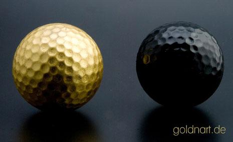 Golfball vergolden, vergoldet, Wiesbaden, Mainz, Darmstadt, Frankfurt, Königstein