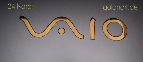 Laptop vergolden lassen, Vaio, 24 Karat, Feingold, Vergolder, Goldschmied