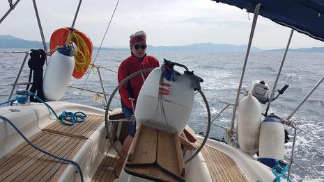 Am Wind nördlich Euböa