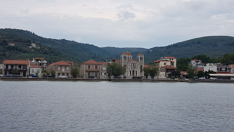 Das Dorf Melina auf der Trikeri-Halbinsel
