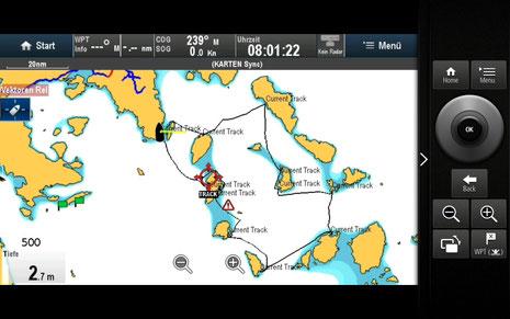 Gesamte Route in 14 Tagen: 252sm
