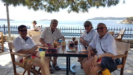 Uschi, Klaus, Christel, Friedemann in Skiathos