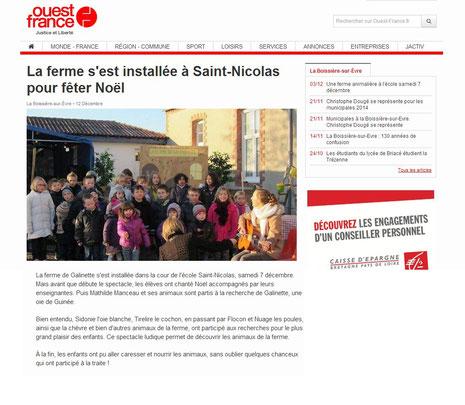 La ferme de Galinette - Ecole St Nicolas