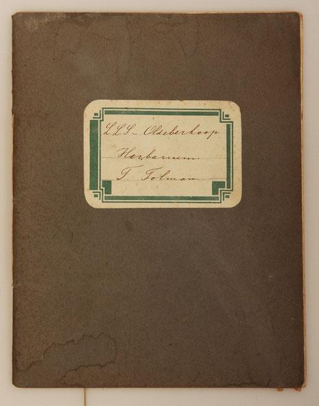 Grassenherbarium in schriftje Teun Tolman  collectie herbarium frisicum