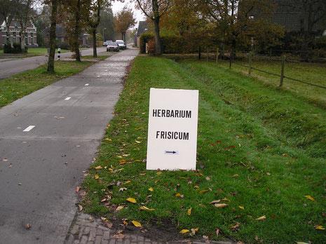 Herbarium Frisicum bord aan de weg