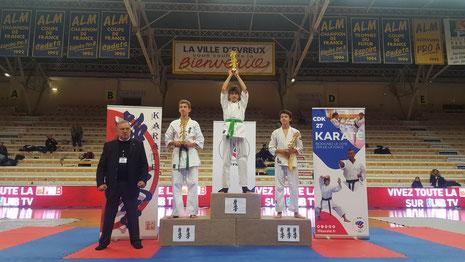 Hugo Marc Première place - catégorie cadet
