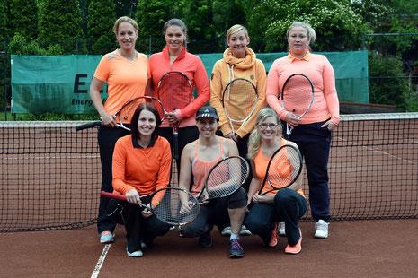o. v. l. Nina Feustel, Judith Marbach, Elena Ritter, Julia Matzke - u. v. l. Carolina Büning, Maria Wardenga, Daniela Fleiß