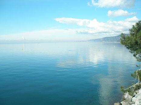 穏やかな湖に漂っているような感じです