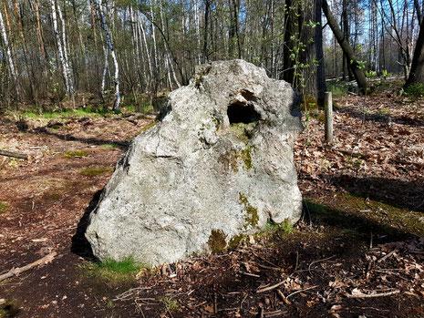 Lochstein im Thümmlitzwald