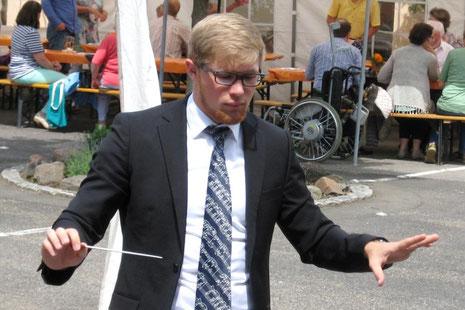 Stefan Klinker bei unserem Auftritt in Weyher am 5.6.2016