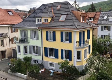 Rene Strub, Jürg Zimmerli, Architekt Zimmerli, Lukarne in altem Dach, Dachgaube, Lukarne Olten
