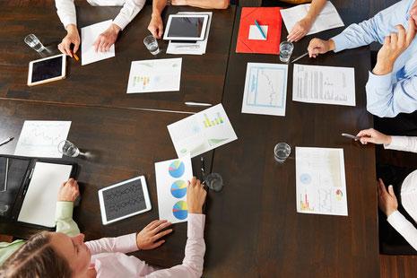 Workshop mit intensiver Arbeit im Team