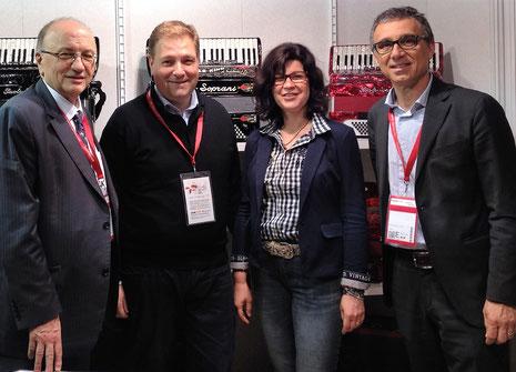 Fausto Fabi, Martin Hommerich, Simone Hommerich, Giansandro Breccia (v.l.n.r)