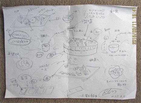 元シェフ・エイタロウが描いた「させぼ春ランチ」のイメージ!