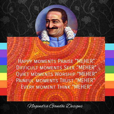 Meher Baba's portrait painted by David Barison