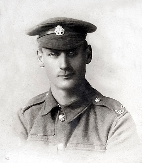 July 1918 ( 19 years old ) - Royal Sussex Regiment. Photo courtesy od Anne Ross