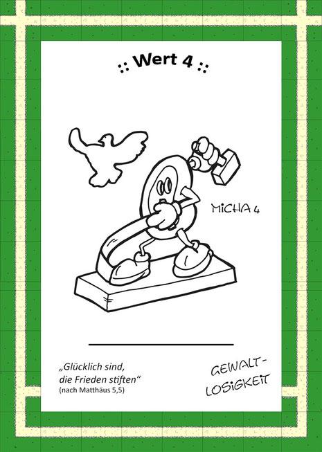 """Sammelkarte des KidsCamp-Spiels: """"Schwerter zu Pfulgscharen"""""""