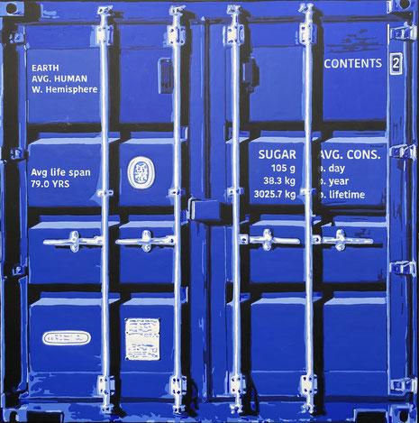 Sugar container blue urban