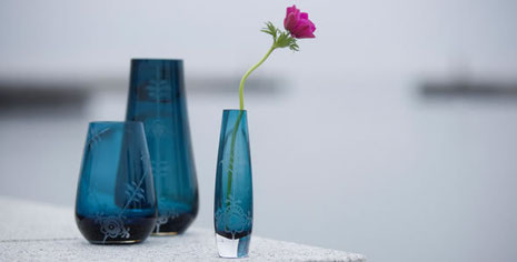 Royal Copenhagen Glasvasen Aus Der Glas Kollektion