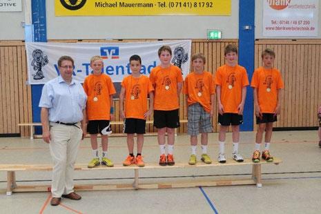 Vierter von Links: Oskar Neudeck, Sechster von Links: Felix Neudeck