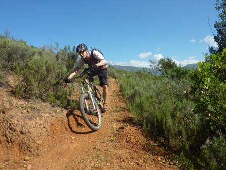 Marcel auf dem flowigen Trail kurz vor Genadendale