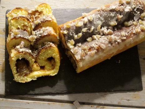 Brioche fondante à la crème de marron, cannelle et marron glacé