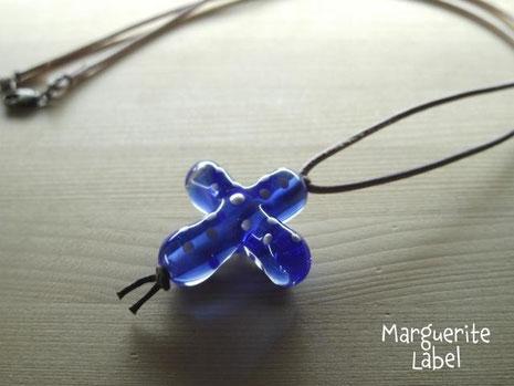 Blue Christian / Glass Charm