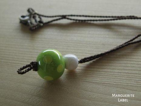 Green Bean /Glass Beads